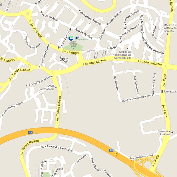 Mapa Localização ITP Natura – Instituto Técnico Profissional